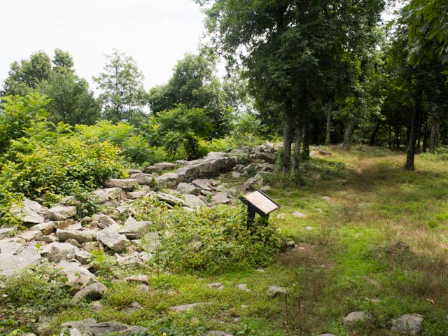 A section of the Civil War fort.
